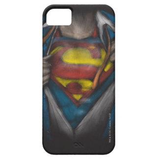 Bosquejo 2 del pecho del superhombre iPhone 5 carcasas