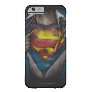 Bosquejo 2 del pecho del superhombre funda de iPhone 6 barely there
