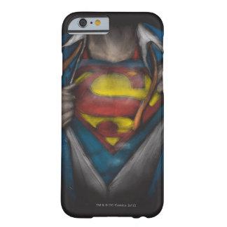 Bosquejo 2 del pecho del superhombre funda barely there iPhone 6