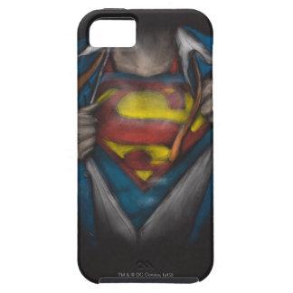 Bosquejo 2 del pecho del superhombre iPhone 5 carcasa
