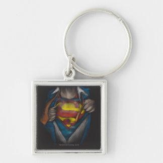 Bosquejo 2 del pecho del superhombre llavero personalizado