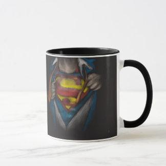 Bosquejo 2 del pecho del superhombre taza