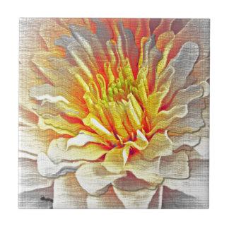 Bosquejo amarillo del lápiz de la flor de la dalia azulejos ceramicos