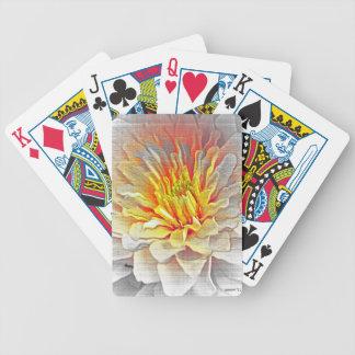 Bosquejo amarillo del lápiz de la flor de la dalia cartas de juego