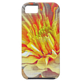 Bosquejo amarillo del lápiz de la flor de la dalia iPhone 5 Case-Mate cárcasa