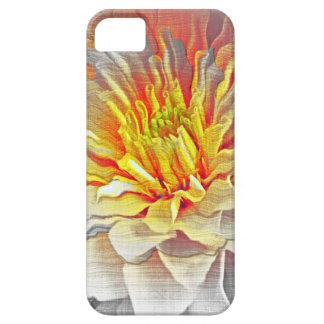 Bosquejo amarillo del lápiz de la flor de la dalia iPhone 5 Case-Mate protectores