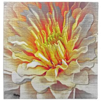 Bosquejo amarillo del lápiz de la flor de la dalia servilletas de papel