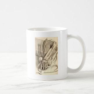 Bosquejo anatómico de la mano taza de café