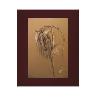 Bosquejo andaluz del caballo impresión en lienzo estirada