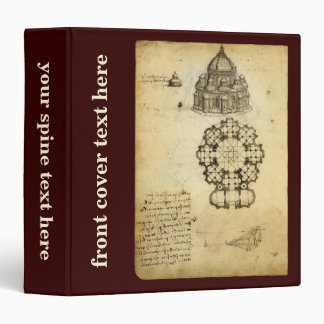 "Bosquejo arquitectónico de Leonardo da Vinci Carpeta 1 1/2"""