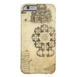 Bosquejo arquitectónico de Leonardo da Vinci Funda De iPhone 6 Barely There