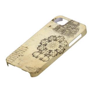 Bosquejo arquitectónico de Leonardo da Vinci iPhone 5 Case-Mate Cárcasa