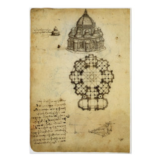 Bosquejo arquitectónico de Leonardo da Vinci Impresiones