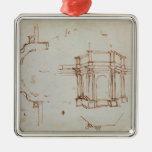 Bosquejo arquitectónico de W.24r Adornos
