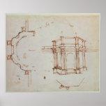 Bosquejo arquitectónico de W.24r Impresiones