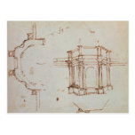 Bosquejo arquitectónico de W.24r Tarjeta Postal