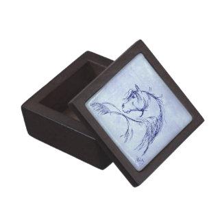Bosquejo artsy de la cabeza de caballo cajas de regalo de calidad