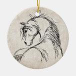 Bosquejo artsy de la cabeza de caballo ornamento para reyes magos