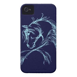 Bosquejo artsy de la cabeza de caballo iPhone 4 Case-Mate funda