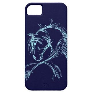 Bosquejo artsy de la cabeza de caballo iPhone 5 carcasas