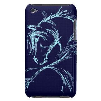 Bosquejo artsy de la cabeza de caballo Case-Mate iPod touch cárcasas