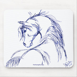 Bosquejo artsy de la cabeza de caballo tapete de ratones