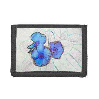 bosquejo azul de la flor de molinillo de viento