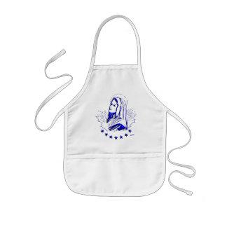 Bosquejo bendecido del azul del Virgen María Delantal Infantil