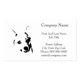 Bosquejo blanco y negro de la tinta del perro del tarjetas de visita