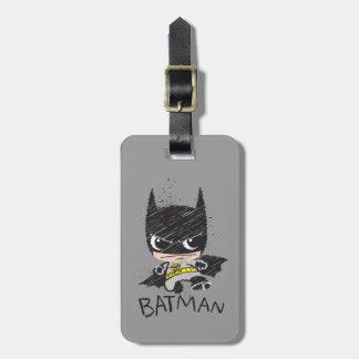 Bosquejo clásico de Chibi Batman Etiquetas De Maletas