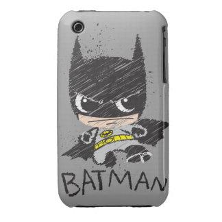 Bosquejo clásico de Chibi Batman iPhone 3 Case-Mate Protectores