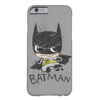 Bosquejo clásico de Chibi Batman Funda De iPhone 6 Barely There