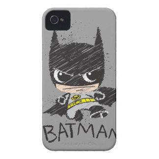 Bosquejo clásico de Chibi Batman iPhone 4 Case-Mate Cárcasa