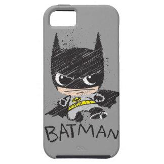 Bosquejo clásico de Chibi Batman iPhone 5 Cobertura