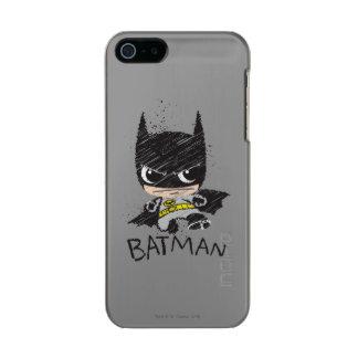 Bosquejo clásico de Chibi Batman Carcasa De Iphone 5 Incipio Feather Shine