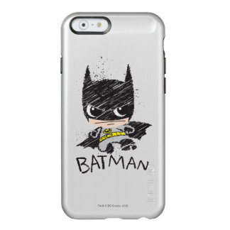 Bosquejo clásico de Chibi Batman Funda Para iPhone 6 Plus Incipio Feather Shine