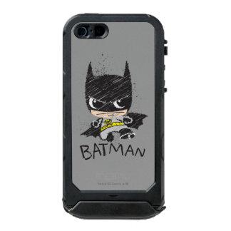 Bosquejo clásico de Chibi Batman Funda Para iPhone 5 Incipio ATLAS ID