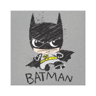 Bosquejo clásico de Chibi Batman Lienzo Envuelto Para Galerías