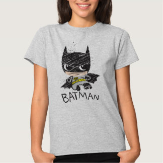 Bosquejo clásico de Chibi Batman Playeras