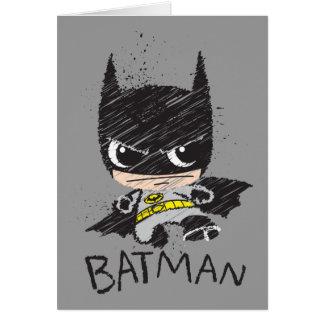 Bosquejo clásico de Chibi Batman Tarjeta De Felicitación