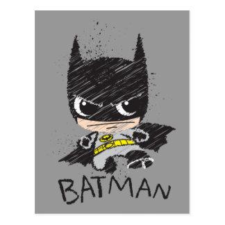 Bosquejo clásico de Chibi Batman Tarjeta Postal