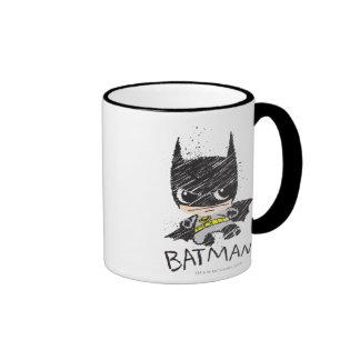 Bosquejo clásico de Chibi Batman Taza De Dos Colores