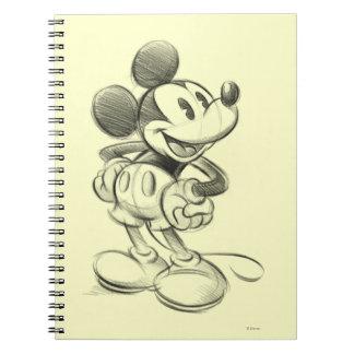 Bosquejo clásico de Mickey el | Libreta Espiral