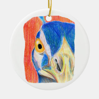 Bosquejo coloreado cabeza del dibujo de lápiz del ornamento de navidad