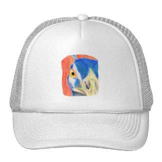 Bosquejo coloreado cabeza del dibujo de lápiz del gorras