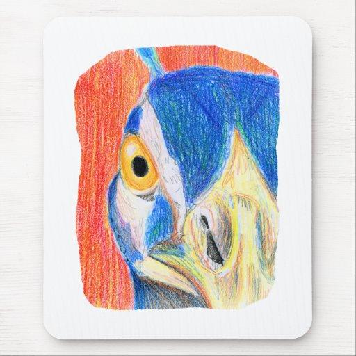 Bosquejo coloreado cabeza del dibujo de lápiz del  mouse pad