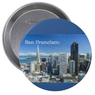 Bosquejo coloreado del lápiz de San Francisco Pin