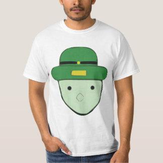Bosquejo coloreado verde Meme del Leprechaun Remera