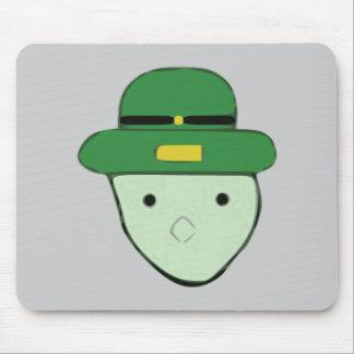 Bosquejo coloreado verde Meme del Leprechaun Tapete De Ratones