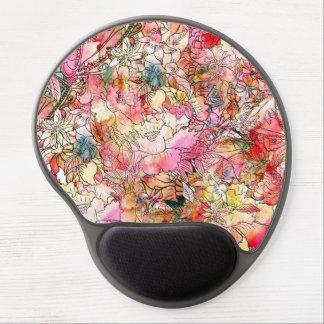 Bosquejo colorido del extracto del estampado de fl alfombrilla de ratón con gel